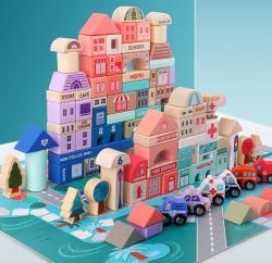 115PCS het Stapelen van het Huis van de Vriendschap van de Meisjes van de Bouwsteen het ModelSpeelgoed van Spelen DIY voor Jonge geitjes