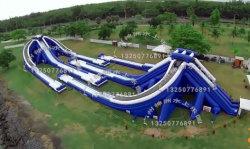 자이언트 PVC 인플랫데일 3인분슬라이드 워터 파크 성인 슬라이드 공원