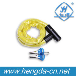 Yh1371 haut de la sécurité de Verrouillage de chaîne de vélo la gaine en nylon Bike verrouiller avec couvercle étanche
