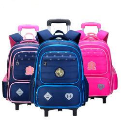 أطفال [سكهوول بغ] جدي سفر تقدم حقيبة حقيبة حامل متحرّك مدرسة حمولة ظهريّة بنات حمولة ظهريّة 6 عجلات [شلد بووك بغ]
