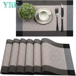 Os pain is duros de Casamento Non-Stain oblongo Heat-Resistant pano de mesa da nata de tapetes de mesa