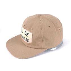 Algodón orgánico Flat-Brimmed saludable Hat para personas de edad los niños con el logotipo de trenzas de sombrero de Papá camionero tapa transpirable