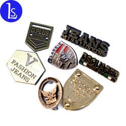 Etiquetas de Metal Veste roupas personalizadas em relevo o nome da marca da etiqueta do logotipo etiqueta de metal para vestuário