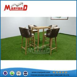 Muebles de madera para exterior de lujo en la mesa de comedor juego de sillas de patio de juegos
