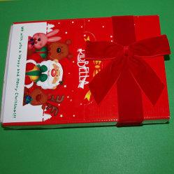 شعار مطبوع خاص بالزهور المصنوعة يدويًا من ODM/OEM Bow Rie Rabbon Decoration لـ بطاقة بريدية لعيد الميلاد / صندوق شوكولاتة