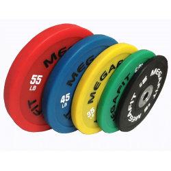 La concurrence Megafit/OEM colorée de l'haltérophilie plaques pare-chocs pour la force et de poids libres