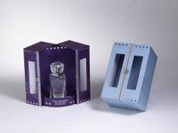 La cerradura de metal Circular de la puerta abierta de arte de la columna de cartón de Papel Caja Perfume