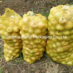 Commerce de gros de l'emballage orange de fruits de tomate Sacs PP Leno Filet