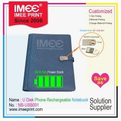 2020 Nouvelle arrivée élément facturable rechargeables USB personnalisé Imee Téléphone Impression de livres de billets de banque d'alimentation