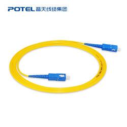 G652D Sc/Upc-Sc/UPC OS1/OS2 Simplex Jacke PVC Cordon de raccordement à fibre optique