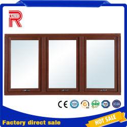 إطار من الألومنيوم المطري الخشب نافذة بزجاج متجمد
