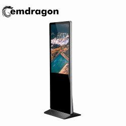 Vente chaude 49inch-de-chaussée de la publicité vidéo Player étage permanent Kiosque permanent Digital Signage Software
