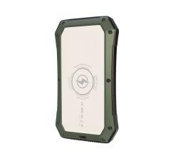 Banco de energia solar Banco de energia USB duplo 15000mAh carregador da bateria à prova de água portátil externo painel solar com LED