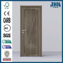 Madeira interno preto PVC folheado de madeira de nogueira revestidos a porta do gabinete Shaker (JHK-SK07-1)