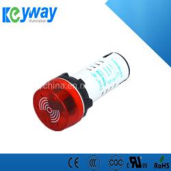 DC24 de 22mm de color rojo señal sonora del sistema de alarma el piloto de la luz LED