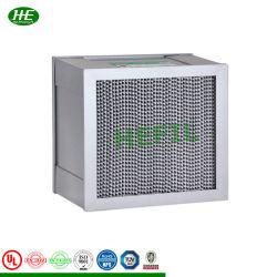 Industry Deep-Pleat HEPA-luchtfilter, aluminium/papieren separator voor gasturbine