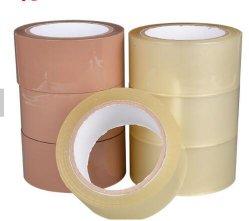 Un alto rendimiento de color marrón bronceado sellado cartón adhesivo acrílico BOPP Cinta de embalaje barata Precio con descuento