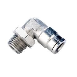 MplかMplnシリーズ肘の雄ネジの金属の空気の速い接続の管継手