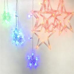Décoration de mariage de vacances de changement de couleur Five-Pointed Big Star Stirp lumière LED RVB