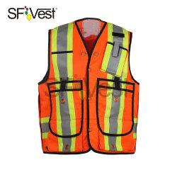2020 Classe 2 Alta visibilidade Segurança Refelective com bolsos durável
