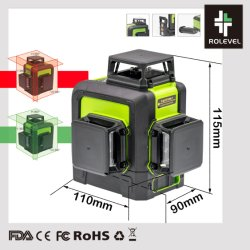 Self-Leveling cruzar a linha 3 Power 40W Lasers nível a laser para construção