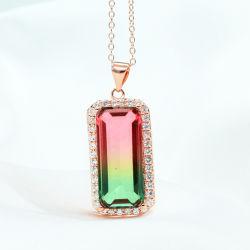 Venda por grosso de acessórios de moda pendente para colar com pedras de cristal de vidro