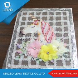 Nueva moda rectangular de coloridos textiles bordados de encaje