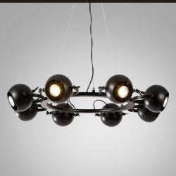 مصابيح كشافات أميركية غرفة المعيشة غرفة الطعام غرفة النوم مدلاة حديدية