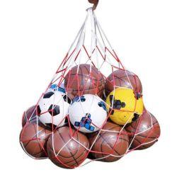 La sfera del sacco della maglia del cavo di tiraggio del sacchetto di memoria della sfera di rugby di calcio di pallavolo di pallacanestro trasporta la rete per la sfera 7-10