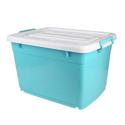 صندوق تخزين بلاستيكي تحت التآكل قابل للتكديس سعة 100 لتر متعدد الأغراض