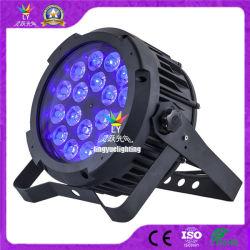 DMX 18X18W RGBWA紫外線平らな屋外LEDの同価の段階ライト