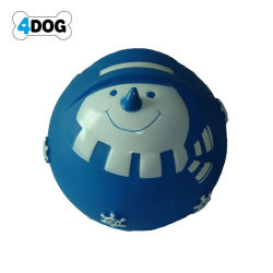 فينيل [سقوكي] عيد ميلاد المسيح رجل ثلج كرة كلب لعب, محبوبة لعب ([د11220])