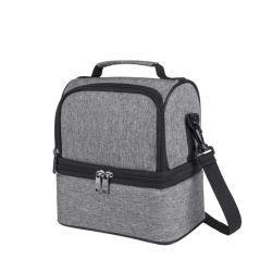 Lunchbox isolierte Lunchtasche für Männer & Frauen, Wasserdicht große Coole Tragetasche für Arbeit/Schule/Picknick mit Doppeldeck geräumige Fächer Abnehmbare Schritt