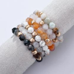 أزياء النساء مجوهرات ستون إكسسوارات الفولاذ المقاوم للصدأ Beads Bracelet