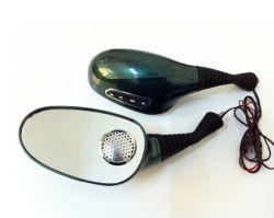 De donkergroene Rearview Spiegels van de Motorfiets met FM en MP3 Speler