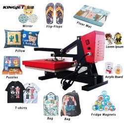 Cheapest 38X38 Camiseta Cordón Plano de impresión de prensa de calor máquina3 para T-Shirt