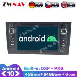 Estéreo de auto de navegación GPS para coche Audi A6 4B C5 1997-2005 Android Radio Multimedia reproductor de DVD 10.0 PX6 Audio de la unidad de cabeza Carplay