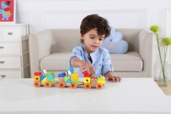 Wooden Toys Railway Train Set의 나무기차 세트 아이들