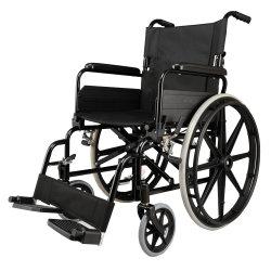 إطارات هوائية محمولة قابلة للطي للرعاية الصحية مركبة يدوية صغيرة الحجم ذات كرسي متحرك صغير