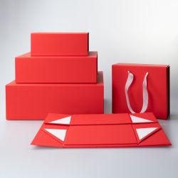 4 Logotipo personalizado por grosso Vermelho/Preto/Branco/Rosa/Papel Cartão Magnético Kraft Embalagem Caixa de Oferta de Natal da caixa de gaxetas/Bridemades/equipamento/vestuário/vestuário/Lingeries