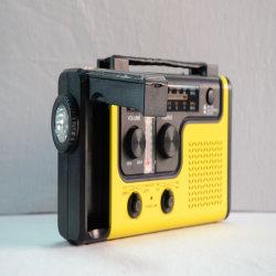 Manivelle de la solaire portable AM FM & NOAA Weather Radio à ondes courtes (HT-998)
