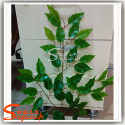 Foglie artificiali di Ficus in plastica morbida a mano