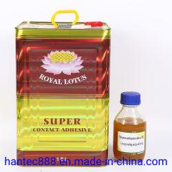 Adhésif de contact est faite de caoutchouc chloroprène de haute qualité