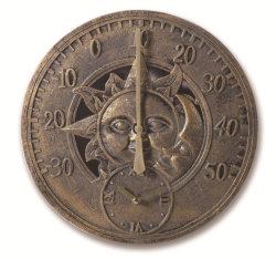 La mejor decoración de Jardín Colgante de Doble Cara antiguos relojes de pared