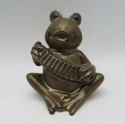 정원 훈장 세라믹 개구리 작은 조상 (D73-13820-2)