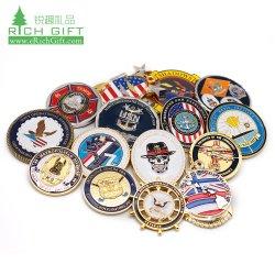 Настраиваемый логотип игры металлические монеты Штампование полупрозрачные мягкий жесткий эмаль старинной Золотой лист военные задачи медали нет минимального заказа