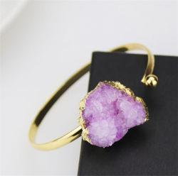 De onregelmatige Natuurlijke Violetkleurige Half-Open Regelbare Armband van het Koper met Om het even welke Grootte van de Pols