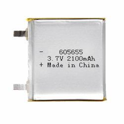 605655 de 3.7V 2100mAh batería de polímero de litio de 1c de la electrónica de consumo RoHS CE