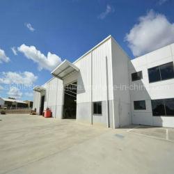 이동식 사전 조립식 구조용 강철 구조 건설 창고 작업장에서 금속 흘려 긴 수명 기간 건물