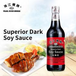 Salsa de soja oscura superior 500ml Certificado Halal Puente del Río Perla natural de la marca de salsa de cerveza